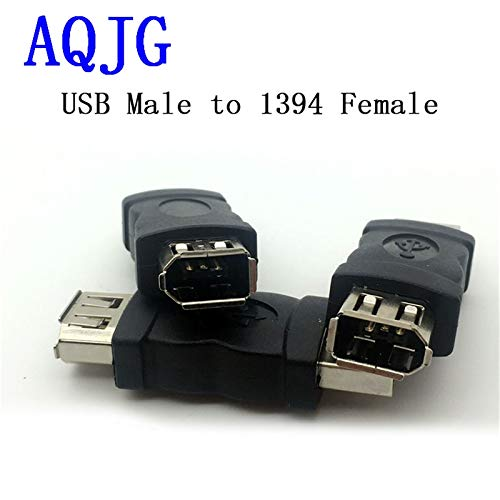 Price comparison product image Gimax 1PCS USB 2.0 1394 Female to USB A Male adapter 6 Pin Female Firewire IEEE 1394 to USB Male Adaptor Convertor wholesale AQJG
