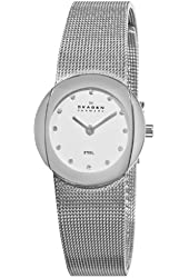 Skagen Women's 589SSS Steel Mother-Of-Pearl Swarovski Crystal Dial Watch