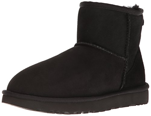 UGG Women's Classic Mini II Winter Boot, Black, 8 B US
