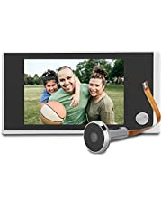 """3.5"""" Videoportero, Sistema de Timbre inalámbrico con cámara de Seguridad LCD Digital/Intercomunicador de Video de Doble vía/Visor de Mirilla de 120 Grados para Villa/Casa/Oficina"""