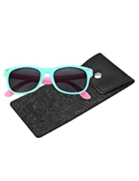 Brooben Rubber Flexible Kids Polarized Sunglasses for Girls Age 3-10 802
