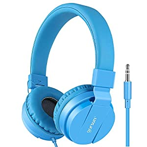 Best Epic Trends 41tX%2B0YsrsL._SS300_ gorsun Lightweight Stereo Folding Wired Headphones for Kids Adults Adjustable Headband Headset for Cellphones…