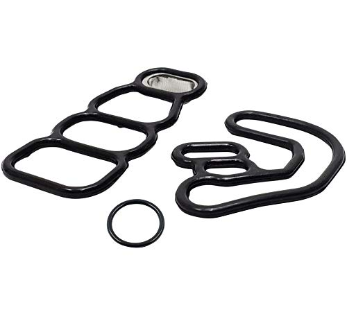 (K-motor performance VTEC Solenoid Gasket Spool Valve Filter valve seal - Fits 2005 2006 2007 Honda Pilot Accord Odyssey - V6 3.5L Engine - variable timing solenoid gasket kit.)