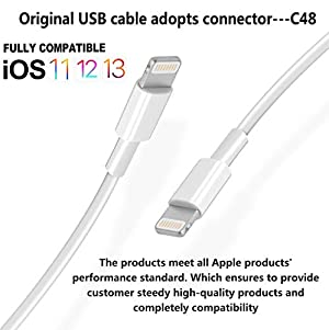 3Pack Original [Apple MFi Certified] Charger Lightning to USB Cable Compatible iPhone 11 Pro/11/XS MAX/XR/8/7/6s/6/plus,iPad Pro/Air/Mini,iPod Touch(White 1M/3.3FT) (Color: White, Tamaño: 3.3ft)