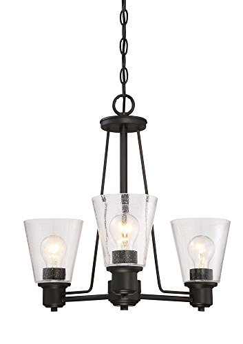 Designers Fountain 88083-ORB Printers Row 3 Light Chandelier, Oil Rubbed ()