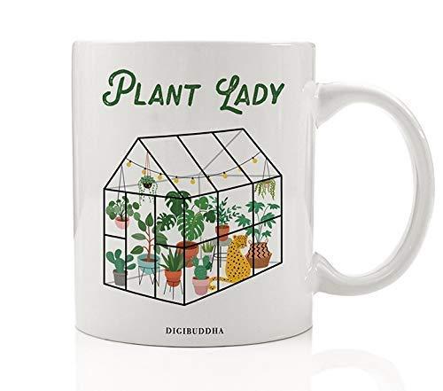 Gardening Plant Lady Coffee Mug Gift Idea Flower Vegetable Landscaper Greenhouse Indoor Outdoor Gardener Christmas Holiday Birthday Present Mother Grandmom 11oz Ceramic Tea Cup Digibuddha DM0436