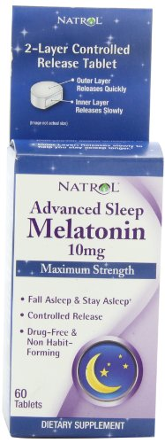 Natrol Advanced Sleep Melatonin Tablets, 10mg, 60 …