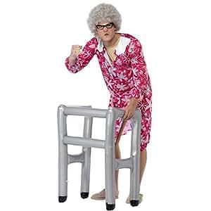 Amakando Accesorio Auxiliar para Caminar Inflable Andador Hinchable Accesorio Disfraz Anciano Fiesta temática de Jubilados Soporte para Caminar para inflar Complemento Traje Abuelo