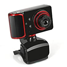 HD Webcam 16M Pixels Rotatable Built-in Sound Absorption Microphone 9 Effects One-Key Camera for Laptops and Desktops Android TV Boxes Web Conferencing