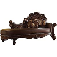 ACME Vendome Cherry Chaise with 2 Pillows