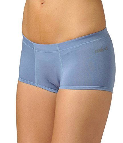 Capilene Womens Bras - Naked Womens Luxury Modal Hipster Loungewear Bottoms Underwear Brief For Ladies - Blue, Small