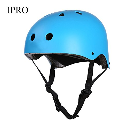 IPRO Unisex Outdoor Sports Safety Helmets Protective Head Guard for Rock Clambing,Hiking,Cycling,Downhill (Size S,M,L) (Blue, S)