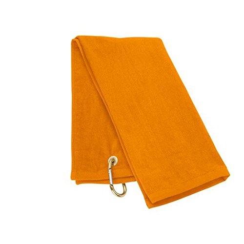 三つ折ゴルフタオル  オレンジ B004GL8YP2