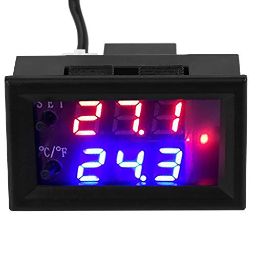 (DC 12V All-Purpose Digital Temperature Controller Thermostat with)
