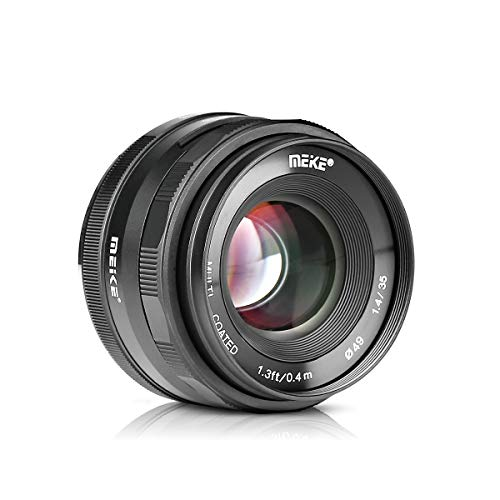 MK-35mm F1.4 Large Aperture Manual Focus Prime MFT Lens for Micro Four Thirds M43 Olympus and Panasonic Digital Mirrorless Cameras and BMPCC