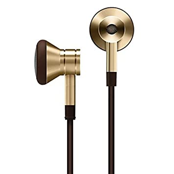 1MORE Dynamic Driver Earbuds Fashion Retro Style Earphones with Secure Fit, Durable Tangle-Free Cable, in-Line Remote Mic for Smartphones PC Tablet – Gold