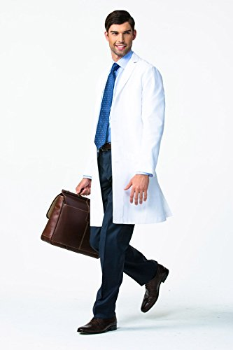 Men's E. Wilson Slim Fit M3 White Lab Coat- Professional Fit With Performance Fabric - Size 36 by Medelita (Image #2)'