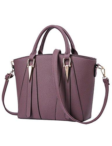 Bags Hand PU Women's Bag Shoulder Purple Bag Handle body Cross Bags 26cm TwgXB