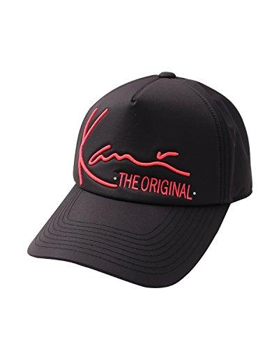 [カールカナイ ゴルフ] Karl Kani GOLF 帽子 吸水速乾 蛍光 立体刺繍 キャップ 182KG8711 ブラック Fサイズ