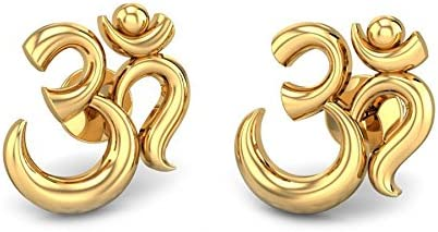 8d2e0639b Buy Candere By Kalyan Jewellers 22k (916) Yellow Gold Aakaksha Om Earrings  for Women Online at Low Prices in India | Amazon Jewellery Store - Amazon.in