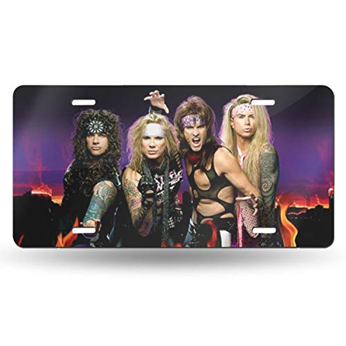 Bayarsea License Plate Steel Panther TrendySexy 3D Funny Auto Car Tag Metal Cover ()