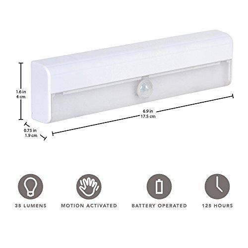Brilliant Evolution Wireless LED Stair Lights 3 Pack | LED Motion Sensor Light | Closet Light| Battery Operated Light | Stick On Lights | Motion Activated Indoor Step Lights | Motion Night Light by Brilliant Evolution (Image #2)