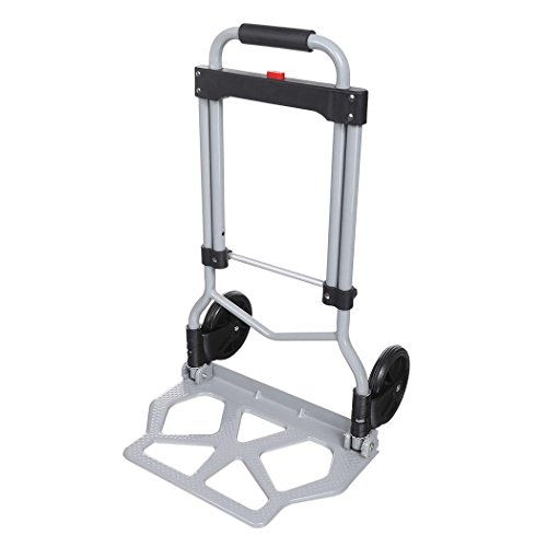 Folding Hand Truck/Assisted Hand Truck/Cart 220lbs Lightweight Portable Fold UpDolly Foldable Wheelsfor Luggage, Personal, Travel, Auto, Moving and Office Use by Elomes (Image #2)