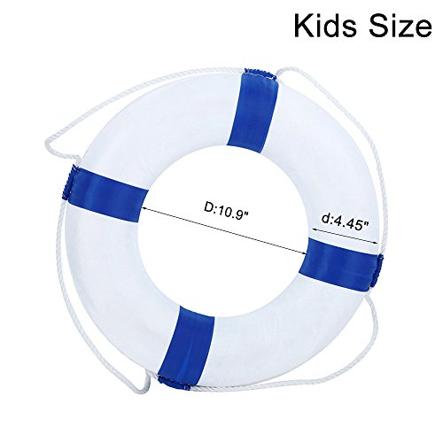 Foam Swim Rings Swimming Pool Life Ring Buoy With Perimeter Rope For Kids Blue Masterbasser