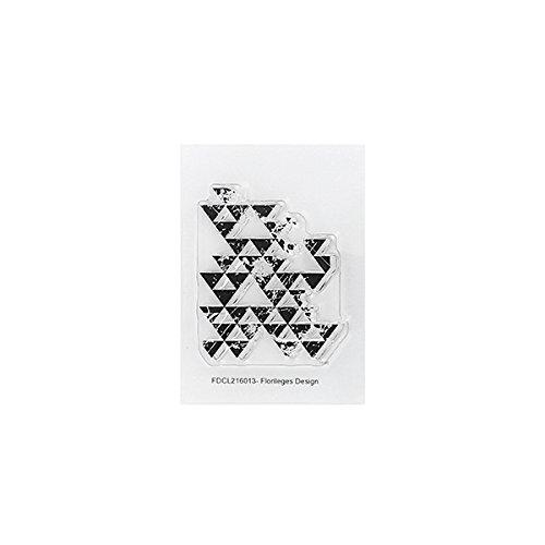 Floril/èges Design fdcl216013/Timbro plastica Trasparente 10,5/x 6/x 0,5/cm