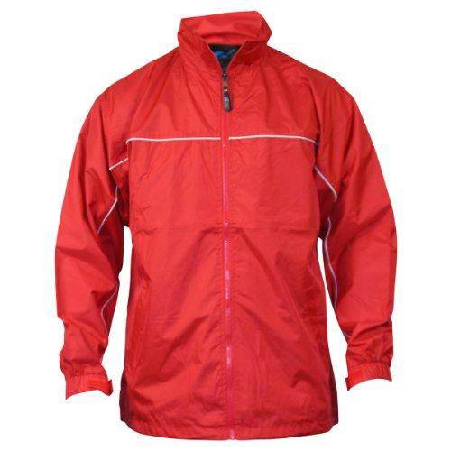 Apparel No. 5 Men's Lightweight Single Piping Windbreaker Jacket,X-Large,Red / White