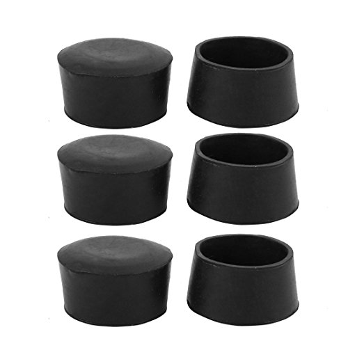 uxcell 6pcs Furniture Desk Chair Round Rubber Leg Tip Cap 50mm Inner Diameter Black by uxcell
