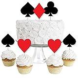 Las Vegas - Dessert Cupcake Toppers - Casino Party Clear Treat Picks - Set of 24