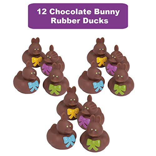 48 Count Easter Rubber Ducks Bulk Variety Pack - Kids Easter Egg Hunt Prizes - Easter Basket Fillers - Spring Fling Ducky Party Favors Giveaways - Assorted Bunny Rubber Duckies by The Old Blue Door (Image #3)