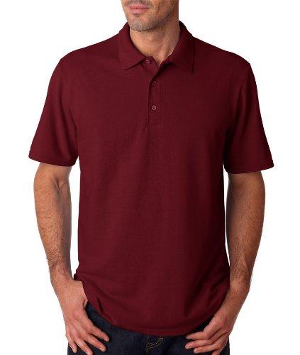 Maroon Large Gildan Mens DryBlend Pique Polo Shirt 94800