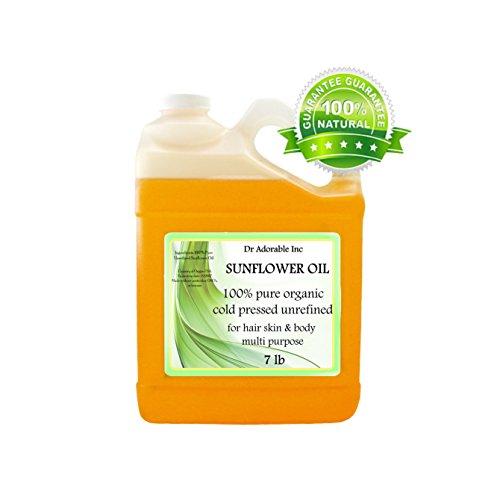(Unrefined Sunflower OIL High Oleic Organic 100% Pure 128 Oz / 7 Lb / One Gallon)