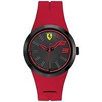 Ferrari FXX Grey Dial Red Silicone Unisex Watch