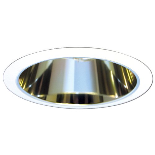 HALO Recessed 5020RG 5-Inch Cone Trim with Residential Gold Reflector, White - Gold Cone Trim