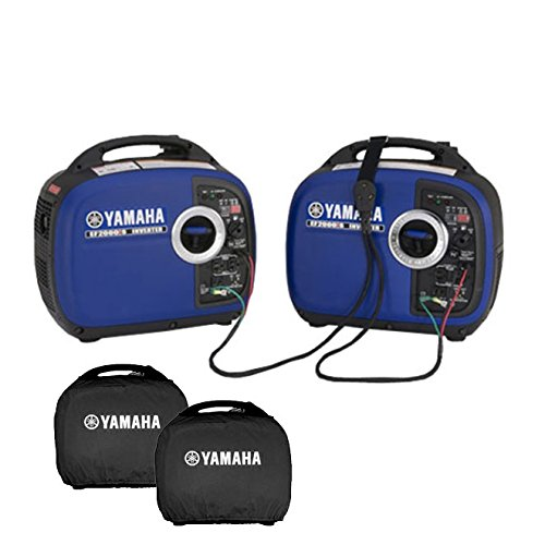 RV Generator 2000 Watts Yamaha EF2000isv2 Kit | Includes 2x Generators 1x Sidewinder Parallel Cable and 2x Black Covers | Camping Power Inverter Kit