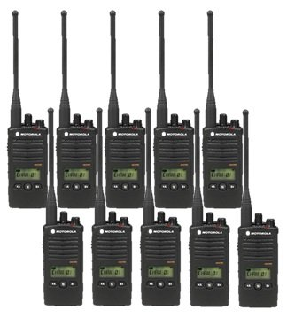 - 10 Pack of Motorola RDU4160d Two Way Radio Walkie Talkies
