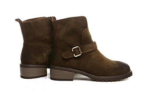 wdjjjnnnv Women's Daily Winter Suede Boots Girls Ankle Boots Shoes KHAKI-36 d36jIg