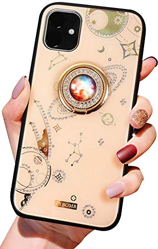 Purchase Case for iPhone 11 6.1 Inch, Aulzaju iPhone 11 Bling Hybrid Cover Raised TPU Edge Hard PC B...