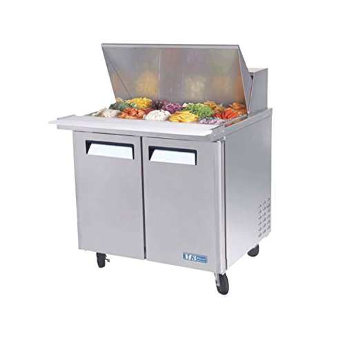 Sandwich Top Refrigerated Counter - Turbo Mst-36-15 Refrigerated Counter, Sandwich Salad Prep Table, Mega Top, 2 Doo