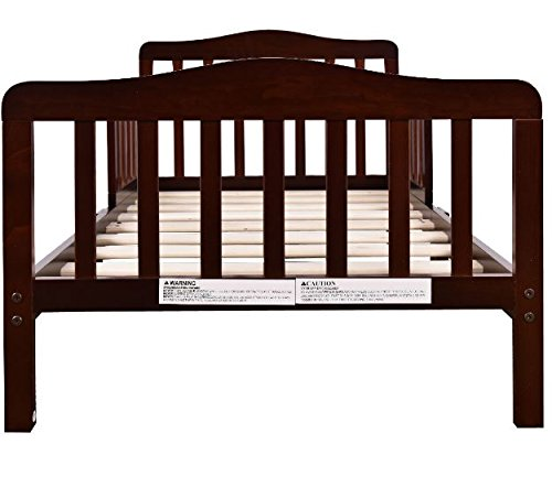Wood Toddler Kids Baby Bed Safety Rails Espresso Bedroom Furniture + eBook by eXXtra Store (Image #1)