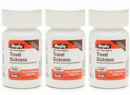 Rugby Travel Sickness, Tablets, 100 Ea (3 Pack) by Rugby