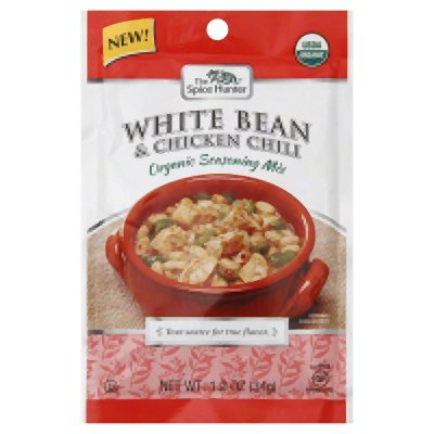 Spice Hunter Organic Chili Seasoning Mix White Bean And Chicken 1.20Oz (Pack of 12) - Pack Of 12