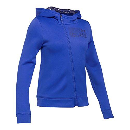 (Under Armour Girls' Armour Fleece Full Zip Hoodie,Lapis Blue (984)/Mako Blue, Youth X-Large)