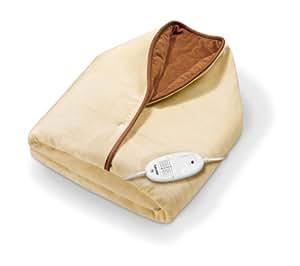 Beurer HD50  - Capa/manta eléctrica, 15x100cm, lavable, color crema/marron