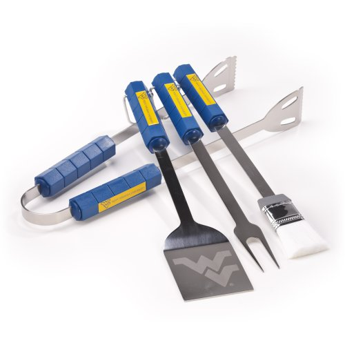 NCAA West Virginia Mountaineers 4 Piece Barbecue Set