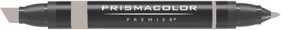 Prismacolor Double-Ended Marker, Broad and Fine Tip, PM158 French Gray 40% (3570)