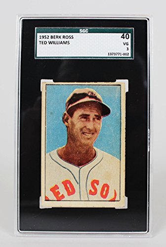 1952 Red Boston Sox - 1952 Boston Red Sox - Ted Williams Berk Ross Baseball Card - SGC Slab